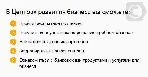 центр развития бизнеса сбербанка россии
