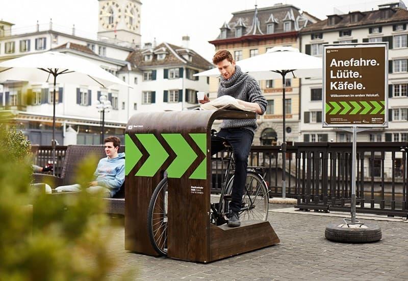 Фото 1. Вот так выглядит на практике концепция велокафе. Источник: zapusti.biz