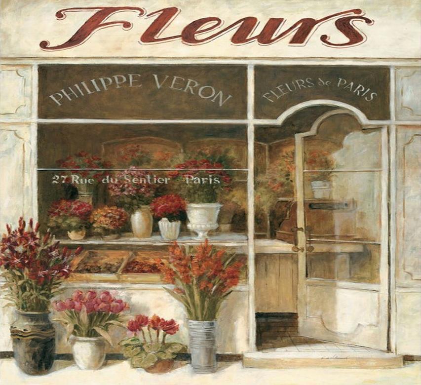 Названия европейских цветочных магазинов