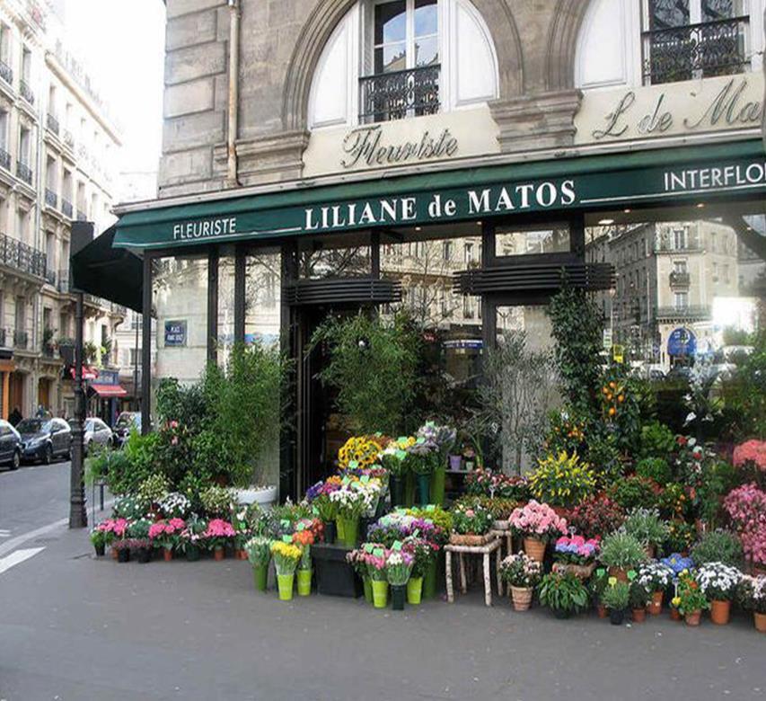 Цветочный магазин в Париже