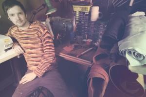 Никита в своей мастерской