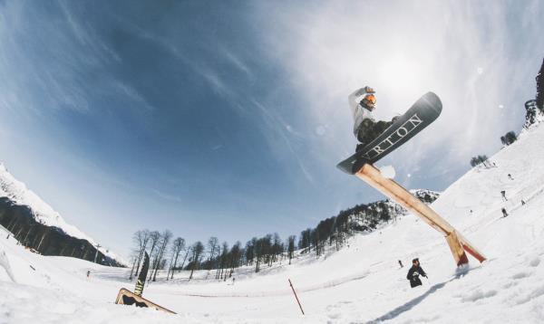 Экстремальный спорт, сноубордист, сноуборт, снег, небо