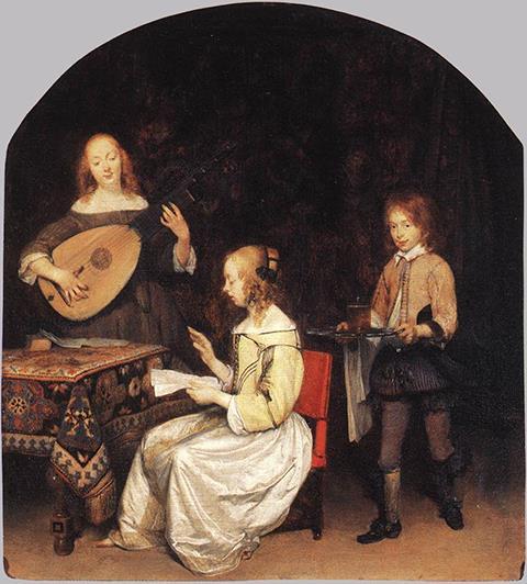 Герард Терборх, «Концерт», 1657