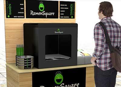 Вендинговый автомат для заваривания лапши