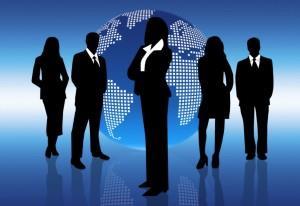 Рисунок, на котором деловые люди и их бизнес