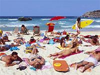 Продажа товара на пляже
