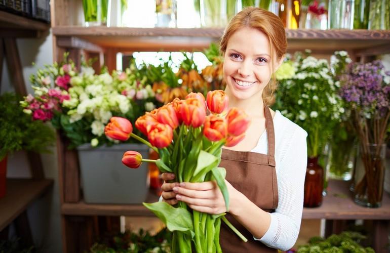 Персонал продавщица цветов