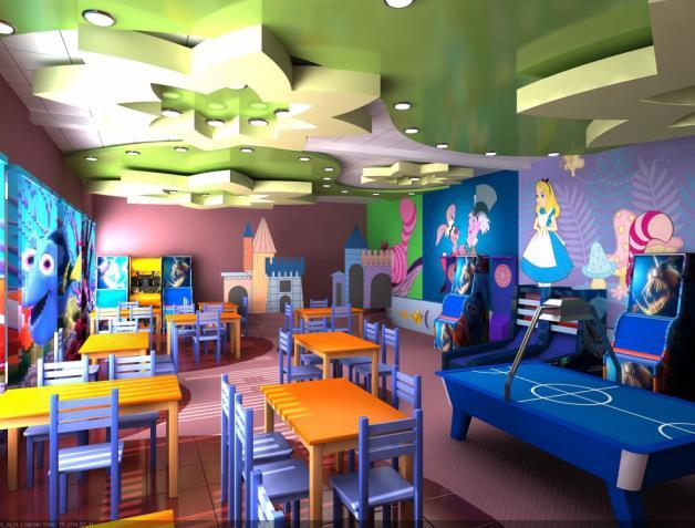 Правильная организация освещения при открытии детского кафе.