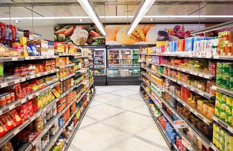 Ассортимент магазина продуктов
