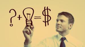 Рисунок, на котором мужчина разрабатывает план бизнеса