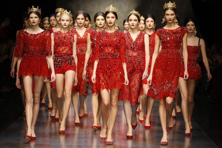 Финал показа Dolca & Gabbana
