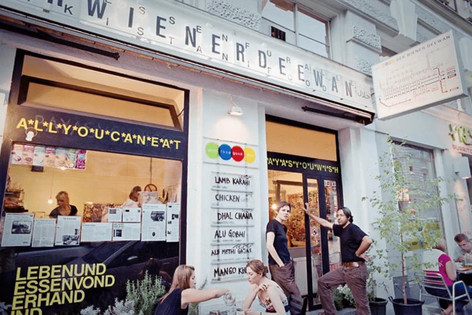 10. «Бесплатный» ресторан в Австрии. Главный вход.