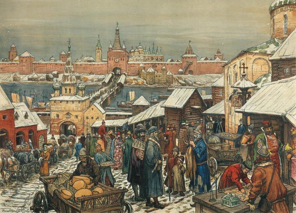 Начиная с XVвека росту экономики способствовало распространение международных торговых отношений