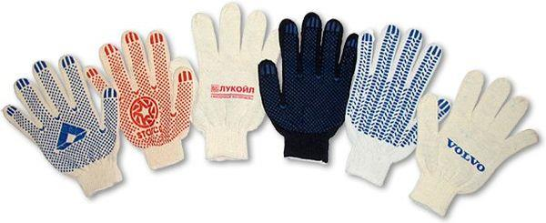ассортимент перчаток х/б