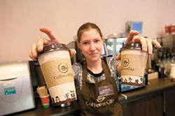 Продавец кофе
