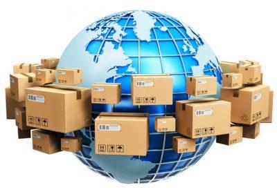 Прермещение товаров по всему миру, посредством торговли через интернет