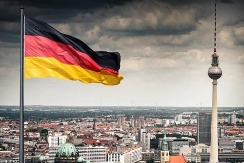 Берлин, Германия с высоты птичьего полёта