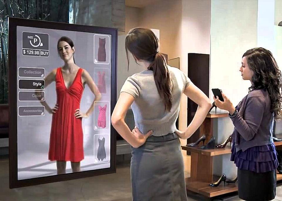 Интерактивные зеркала-примерочные