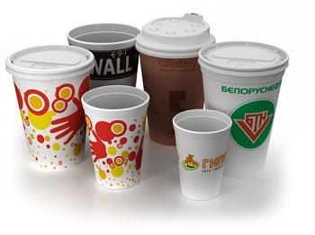 реклама на пластиковых стаканчиках
