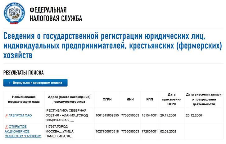 проверить контрагента по ИНН на сайте налоговой инспекции