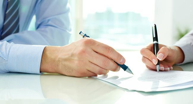 подпись официального документа
