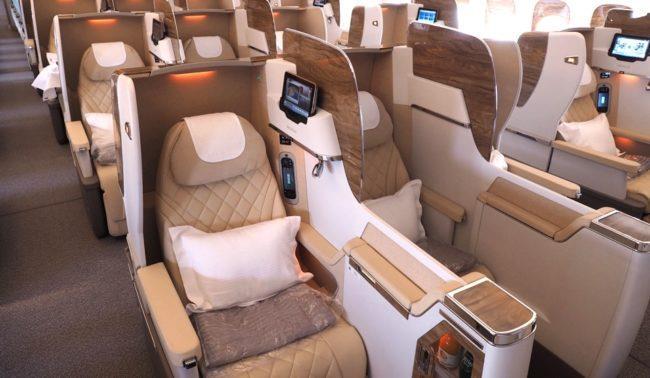 Бизнес-класс авиакомпании Emirates