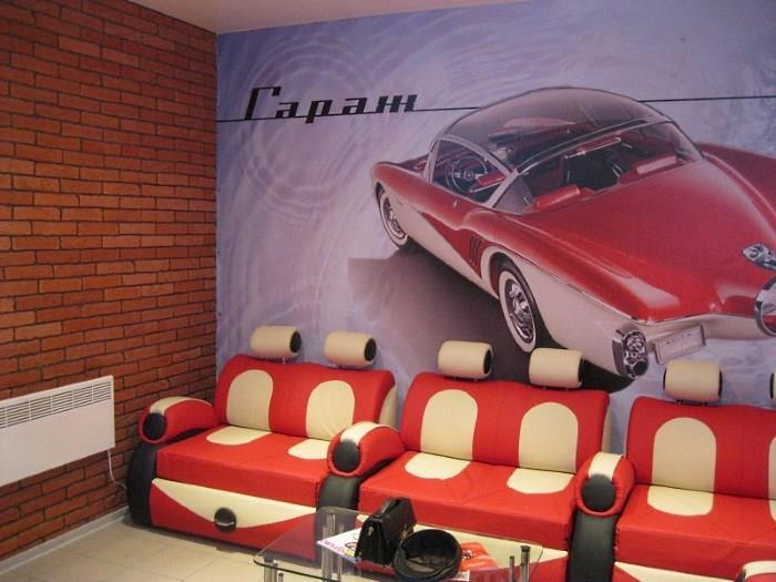 Комната ожидания для клиентов на автомойке