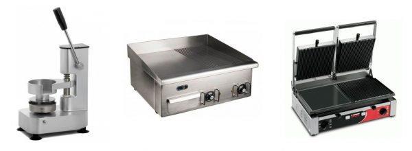 Оборудование для бургеров - пресс, гриль и жарочная поверхность